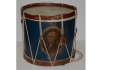 EARLY & SCARCE CIVIL WAR TIN SNARE DRUM WITH WASHINGTON PORTRAIT MADE BY JOHN LOWELL OF BANGOR, MAINE
