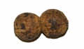 US/CS IRON ARTILLERY CASE SHOT BALLS FUSED TOGETHER, FOUND IN A FIELD NEXT TO REYNOLDS' WOODS AT GETTYSBURG