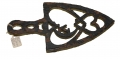 RELIC IRON TRIVET, RECOVERED FROM ORANGE COUNTY, VIRGINIA