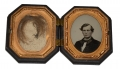 1/9 PLATE AMBROTYPE IN OCTAGONAL THERMOPLASTIC CASE