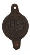 U.S. CAVALRY BIT BOSS, RECOVERED FROM HALL TOWN, WV