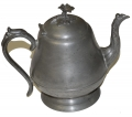 1840's PEWTER TEA POT WITH WILLIAM PENN CONNECTION
