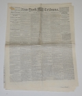 NEW YORK TRIBUNE - MAY 15TH, 1865 EDITION; LINCOLN ASSASSINATION, TRIAL OF THE CONSPIRATORS