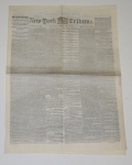 NEW YORK TRIBUNE - MAY 16TH, 1865 EDITION; LINCOLN ASSASSINATION, TRIAL OF THE CONSPIRATORS
