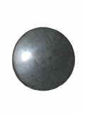 LARGE COLONIAL PEWTER BUTTON, CIRCA 1820