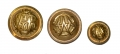 SET OF THREE BRASS G.A.R. BUTTONS