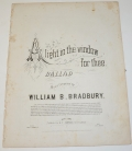 "ORIGINAL SHEET MUSIC FOR ""A LIGHT IN THE WINDOW FOR THEE"""