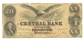 ALABAMA CENTRAL BANK, ALABAMA, $20 NOTE