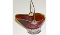 RUBY FLASH GLASS GETTYSBURG SOUVENIR COAL SCUTTLE