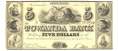 THE TOWANDA BANK, PENNSYLVANIA  $5 NOTE