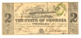 THE STATE OF GEORGIA, GEORGIA, $2 NOTE