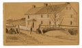 GETTYSBURG SKETCH OF THE TROSTLE HOUSE BY 9TH MASS BATTERY VETERAN & ARTIST RICHARD HOLLAND
