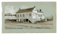 SKETCH OF THE HOME OF GETTYSBURG HERO JOHN BURNS BY 9TH MASS BATTERY VETERAN & ARTIST RICHARD HOLLAND