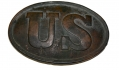 NON-DUG PATTERN 1839 OVAL US BELT PLATE