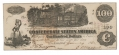 CSA T-40 1862 CONFEDERATE STATES OF AMERICA $100.00 TREASURY NOTE