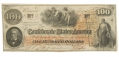 CSA T-41 1862 CONFEDERATE STATES OF AMERICA $100.00 TREASURY NOTE