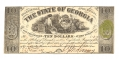 THE STATE OF GEORGIA, GEORGIA, $10 NOTE