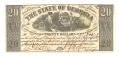 THE STATE OF GEORGIA, GEORGIA, $20 NOTE