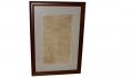 FRAMED EARLY REPRODUCTION OF THE DAILY CITIZEN, VICKSBURG, MISSISSIPPI - DATED JULY 2, 1863, PRINTED ON WALLPAPER