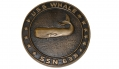BRONZE PLAQUE FROM THE NUCLEAR SUBMARINE USS <i>WHALE</i>
