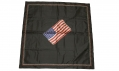 WORLD WAR TWO ERA US FLAG ON A BLACK SCARF - PERHAPS A MOURNING DECORATION