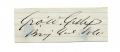 CLIPPED SIGNATURE OF GEORGE W. GETTY