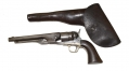 MODEL 1860 COLT ARMY IN THE HOLSTER IDENTIFIED TO CAPTAIN WILMON W. BLACKMAR, 15TH PENNSYLVANIA CAVALRY AND 1ST WEST VIRGINIA – MEDAL OF HONOR WINNER FOR ACTION AT FIVE FORKS, VA APRIL 1, 1865