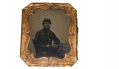 IDENTIFIED 1/6 PLATE TINTYPE OF UNION SOLDIER – THOMAS A. FREETO, 1ST MASSACHUSETTS HEAVY ARTILLERY