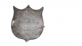 "SILVER IDENTIFICATION SHIELD ENGRAVED ""WILLIAM E. REPPERT / CO C / 15 REG / ANDERSON CAVALRY / PV""."