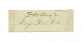 CLIPPED SIGNATURE OF FRANK WHEATON