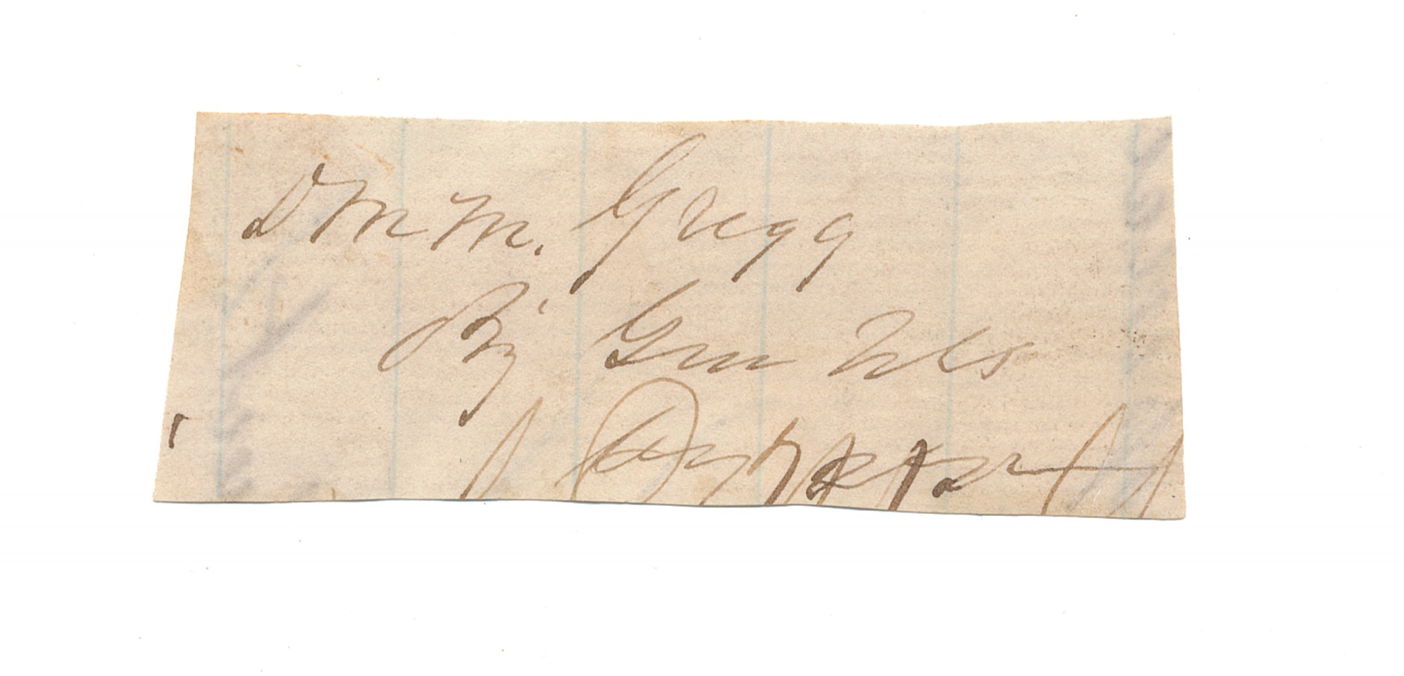 CLIPPED SIGNATURE OF DAVID GREGG