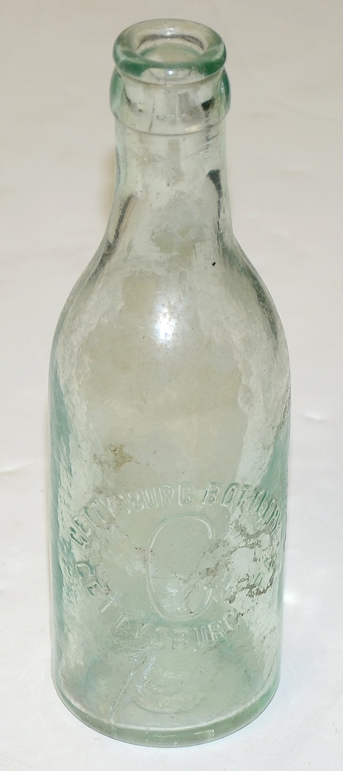 GLASS BOTTLE FOR GETTYSBURG BOTTLERY