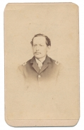 CDV OF GEORGE W. SHIVER- 119TH PENNSYLVANIA INFANTRY