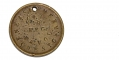"SOLDIER IDENTIFICATION DISK—ID'D TO PRIVATE ENOS R. EMERY, Co ""I"", 119 PENNSYLVANIA VOLS."