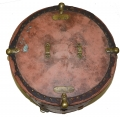 "WONDERFUL POST-WAR DRUM WITH CASE PRESENTED TO DRUMMER ROBERT H. HENDERSHOT, KNOWN TO HISTORY AS ""THE DRUMMER BOY OF THE RAPPAHANNOCK"""
