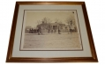 FRAMED ALBUMEN IMAGE OF MAJOR GENERAL GEORGE H. THOMAS' HEADQUARTERS IN CHATTANOOGA