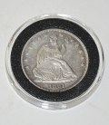 EXTREMELY NICE CONDITION 1861 DATED SEALED LIBERTY HALF DOLLAR