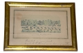 FRAMED PRINT OF CAMP SEWARD, 117TH REGT. N.Y.S.V., SIGNED BY CORP. ALBERT W. PARSONS