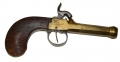 "KETLAND/LONDON SINGLE SHOT PERCUSSION PISTOL WITH BRASS ""CANNON"" BARREL"