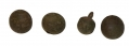 FOUR ZOUAVE BALL STYLE BUTTONS FROM GETTYSBURG