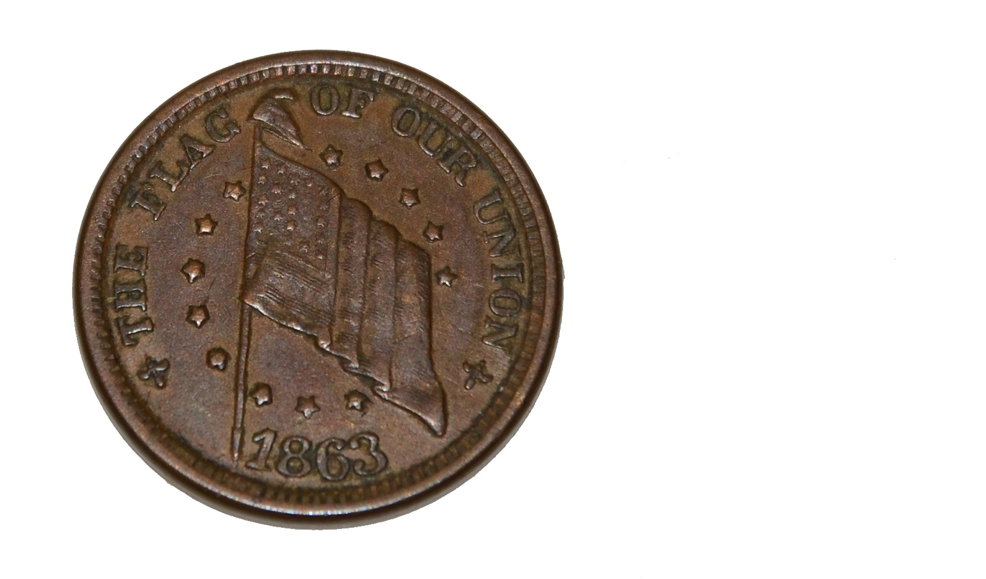 CIVIL WAR ERA BRASS TOKEN – BINGHAMTON, NY