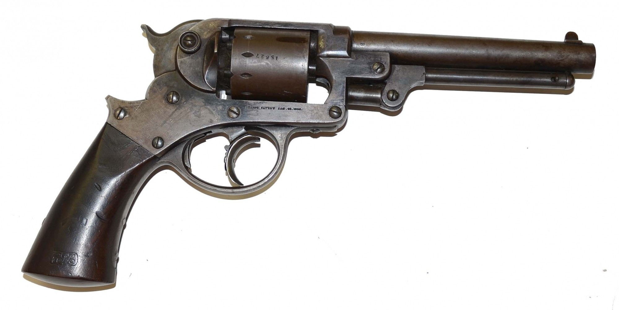 ORIGINAL STARR ARMS CO. DOUBLE ACTION MODEL 1858 PERCUSSION ARMY REVOLVER