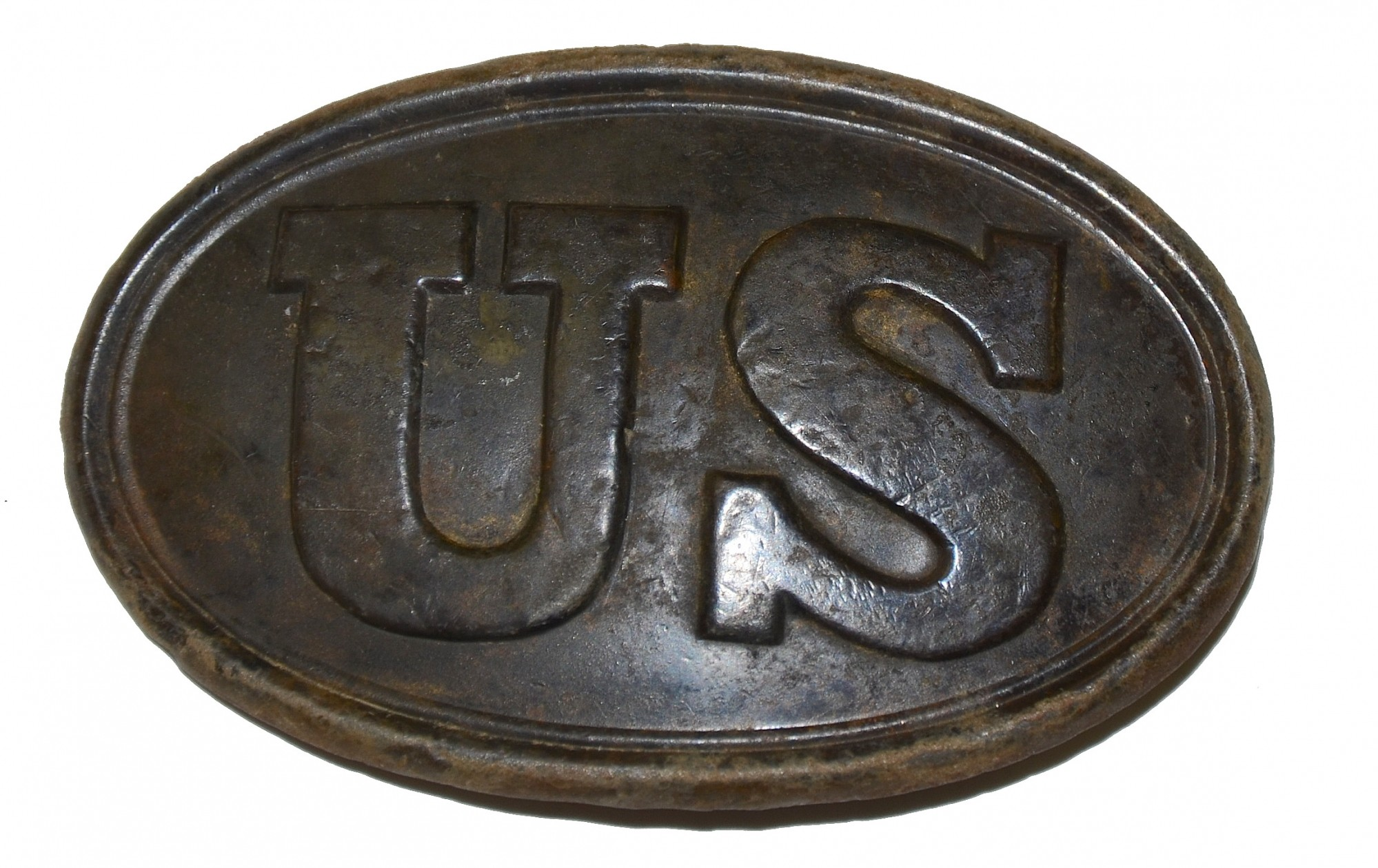 US PATTERN 1939 BELT PLATE DUG BY SID KERKSIS – NORTH ANNA