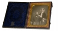 QUARTER PLATE DAGUERREOTYPE OF MAN & WIFE