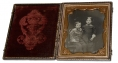 QUARTER PLATE DAGUERREOTYPE OF BROTHER & SISTER