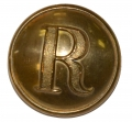 "CONFEDERATE STIPPLED ""R"" RIFLEMAN'S COAT BUTTON"