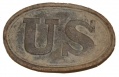 RELIC U.S. ENLISTEDMAN'S CARTRIDGE BOX PLATE RECOVERED NEAR HARPERS FERRY