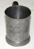 PEWTER CUP - HAND ENGRAVED, 1862