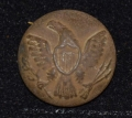 US ENLISTEDMAN'S GENERAL SERVICE EAGLE BUTTON FOUND AT THE HISTORIC SHERFY FARM AT GETTYSBURG