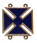 POST-WAR ID'D 5TH CORPS, 3RD DIVISION 14K GOLD BADGE- JOHN C.S. BURGER, 133rd NEW YORK & 12TH VETERAN RESERVE CORPS
